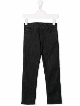 Dolce & Gabbana Kids джинсы стандартного кроя с нашивкой DG L42F04LD864