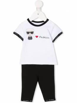 Karl Lagerfeld Kids брючный костюм с принтом Z98055M41