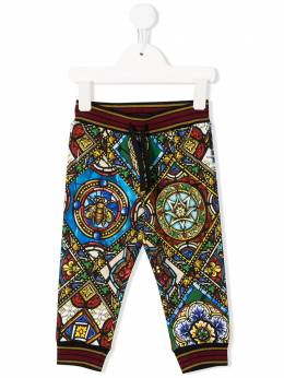 Dolce & Gabbana Kids спортивные брюки с принтом L1JPT0HS7AJ