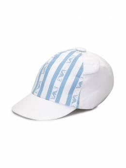 Emporio Armani Kids кепка в полоску с логотипом 4041260P422