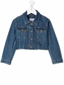Givenchy Kids укороченная джинсовая куртка H16059Z06