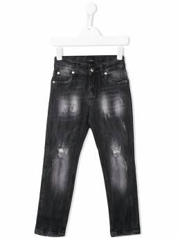 John Richmond Junior джинсы с эффектом потертости RBP20163JE