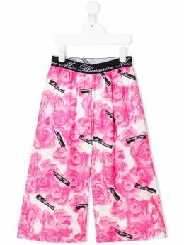 Miss Blumarine брюки с цветочным принтом MBL2652