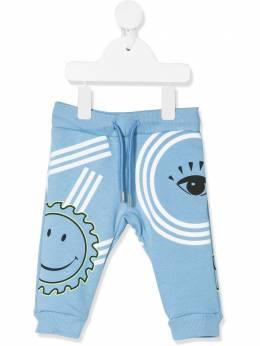 Kenzo Kids брюки с графичным принтом KQ23507