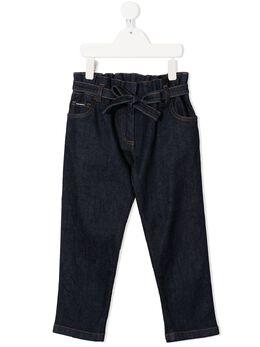 Dolce & Gabbana Kids прямые джинсы с завязками L52F13LD923