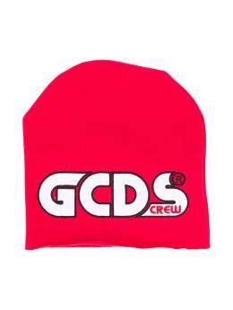 GCDS Kids шапка бини с логотипом 025745
