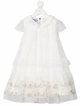 Mi Mi Sol платье макси с вышитым логотипом MFAB099TS0048