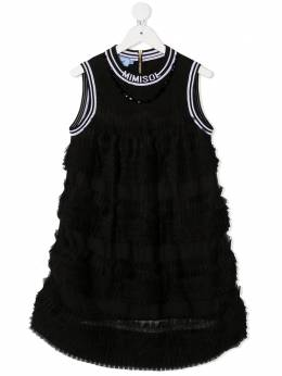 Mi Mi Sol платье мини со складками и оборками MFAB060TS0179