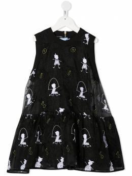 Mi Mi Sol платье с вышивкой MFAB103TS0259