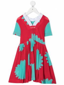 Mi Mi Sol платье миди с цветочным принтом MFAB118TS0275