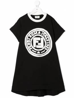 Fendi Kids платье-футболка с принтом JFB3805V0