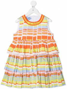 Mi Mi Sol ярусное платье в полоску MFAB115TS0272