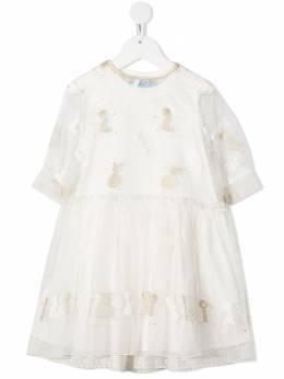 Mi Mi Sol многослойное платье с вышивкой MFAB102TS0259