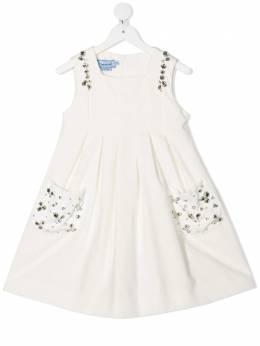 Mi Mi Sol расклешенное платье с заклепками MFAB098TS0204