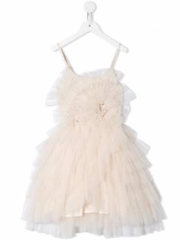 Tutu Du Monde расклешенное платье с оборками TDM6004