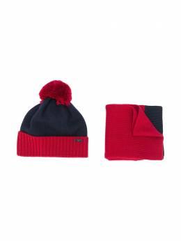 Emporio Armani Kids комплект из шапки бини и шарфа 4073080A747