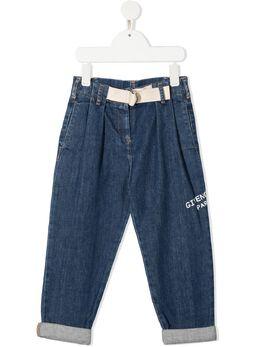 Givenchy Kids джинсы с вышитым логотипом H14106