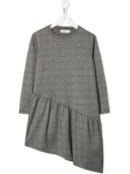 Andorine клетчатое платье асимметричного кроя ADW1941B