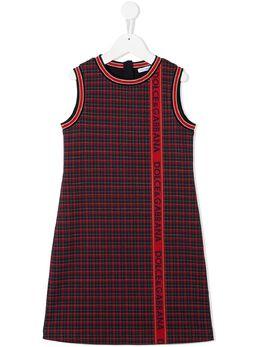 Dolce & Gabbana Kids платье-трапеция с принтом тартан L52DN2FQGAE