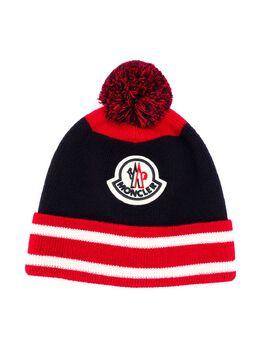 Moncler Enfant шапка бини с вышитым логотипом F29549Z71820A9463