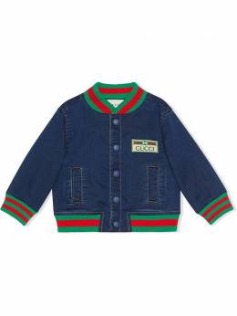 Gucci Kids джинсовая куртка-бомбер 547186XJCR3
