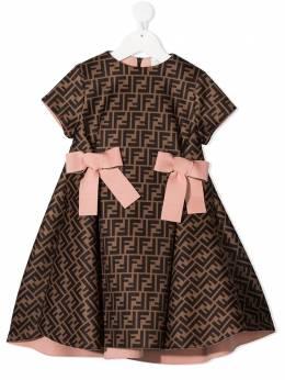 Fendi Kids платье с узором FF JFB400A8LG