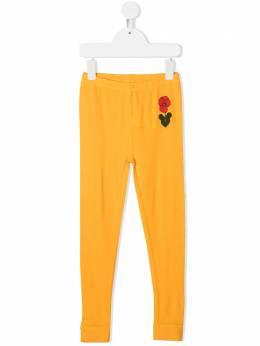 Mini Rodini брюки с цветочным принтом 2073015923