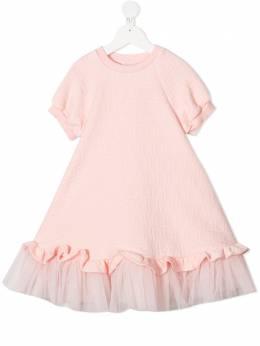 Fendi Kids платье с логотипом JFB379A7LN