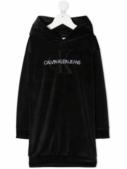 Calvin Klein Kids платье-толстовка с вышитым логотипом IG0IG00711