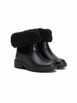 Geox Kids зимние ботинки с подкладкой из овчины J04AFC04322C9999