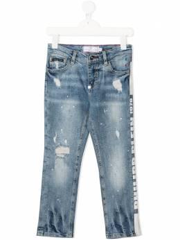 Philipp Plein Junior джинсы Straight Cut с логотипом S20CBDT0233PDE004N