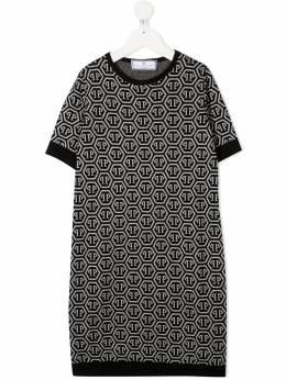 Philipp Plein Junior трикотажное платье с логотипом S20CGKG0054PKN002N