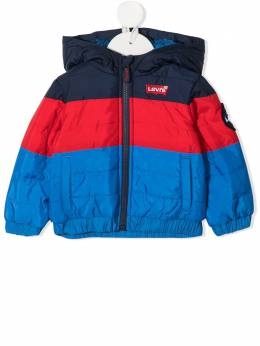 Levi's Kids куртка в стиле колор-блок с капюшоном 6EB590