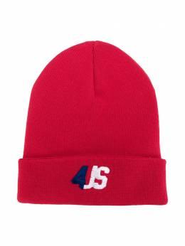 Cesare Paciotti 4Us Kids шапка бини с вышитым логотипом CAP0301B