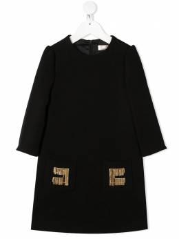 Elisabetta Franchi La Mia Bambina платье-трапеция с цепочным декором EFAB309TV598ZE022