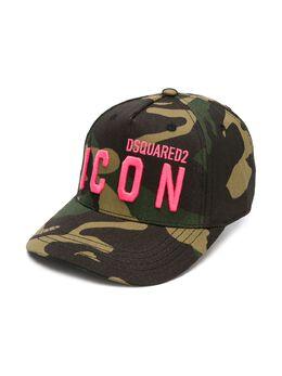 Dsquared2 Kids кепка с вышитым логотипом и камуфляжным принтом DQ04IBD003A