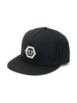 Philipp Plein Junior кепка Hexagon Crystal с логотипом S20AGAC0079PTE003N