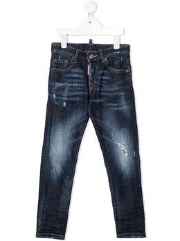 Dsquared2 Kids джинсы с эффектом потертости DQ042L