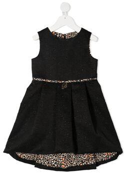 Miss Blumarine платье с леопардовой окантовкой MBL2925