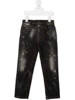 John Richmond Junior джинсы с эффектом потертости RBA20137JE