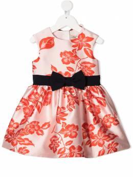 Hucklebones London платье с цветочным принтом и бантом AW20501
