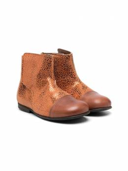 Pepe ботинки с эффектом металлик 1190