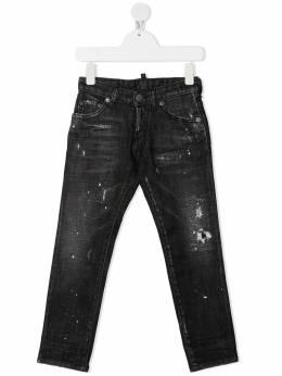 Dsquared2 Kids джинсы с эффектом потертости DQ01Q3D001T