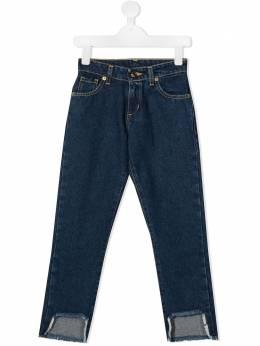 Chiara Ferragni Kids джинсы с вырезами CFKJS003