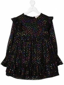 Alberta Ferretti Kids платье с длинными рукавами и узором 025376