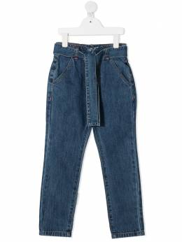 Billieblush джинсы прямого кроя с поясом U14404