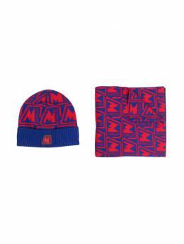 Moncler Enfant набор из шапки и шарфа с монограммой F29549N70020A9464