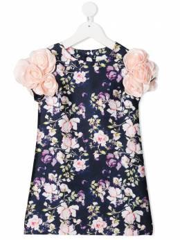 Charabia платье с цветочной аппликацией и принтом S12108