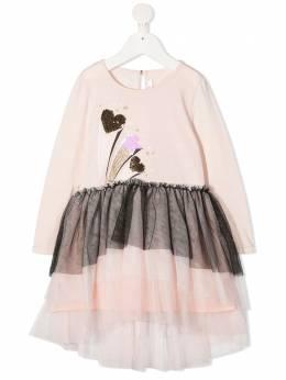 Billieblush платье-футболка с тюлем U12612S10