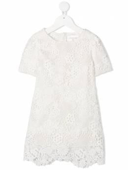 Charabia платье с верхом из цветочного кружева S12100